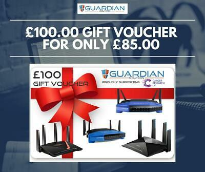 £100 Guardian Routers Gift Voucher VPN Routers Nord IPVanish Ivacy Pure Express