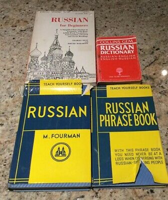 RUSSIAN DICTIONARY/PHRASEBOOKS x4....