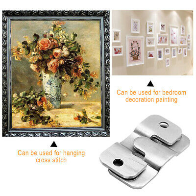 20 X Flush Mount Heavy Duty Slide Bracket Picture Frame Mirror Photo Canvas Plat