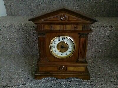 Antique/Vintage Key Winding Mantel Clock. Working. See Description.