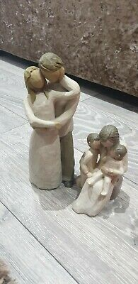 Willow Tree 'Quietly' And 'Together' Figurines Bundle