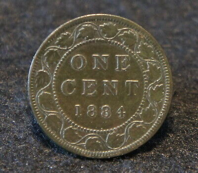 1884 Canadian Large Cent in Fine Condition Very NICE Old Collectible!!