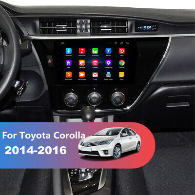 """10.1"""" Android Stereo Radio GPS For Toyota Corolla 2014-2016 3G 4G Mirror Link FM"""