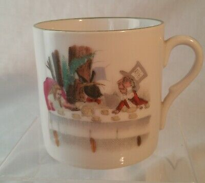 ALICE IN WONDERLAND LITHOPHANE TO BASE  COFFEE CUP VERY RARE Ca 1903