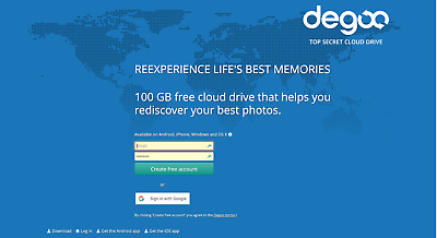 Degoo 10TB Cloud Backup/Storage LIFETIME SUBSCRIPTION - Save $1,100!