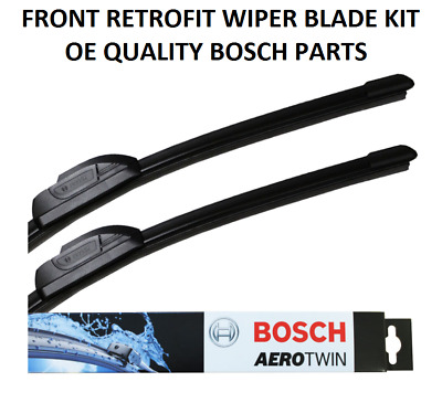 Peugeot 406 Coupe Front Windscreen Wiper Blade Set 1997 to 2005 BOSCH AEROTWIN
