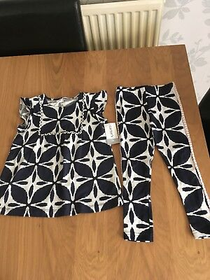 New With Tags Carters Top & Leggings Outfit Blue/white Age 3 Years