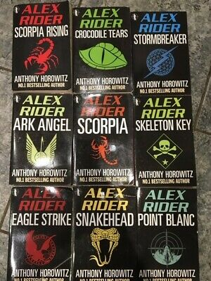 Alex Rider 9 BOOKS SET Collection - Anthony Horowitz - XMAS STOCKING FILLER BOYS