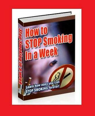How To Stop Smoking In A Week!