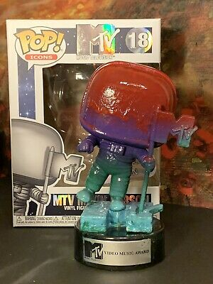 Funko Pop! Icons: MTV - MTV Moon Person #18 Custom By Blue Moose Creations