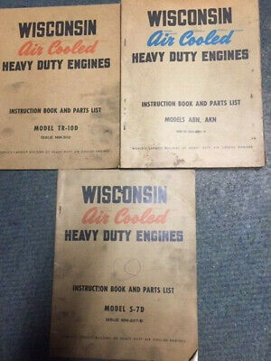 WISCONSIN S7D or TR-10D or ABN, AKN Air Cool Heavy Duty Engine Parts Manuals