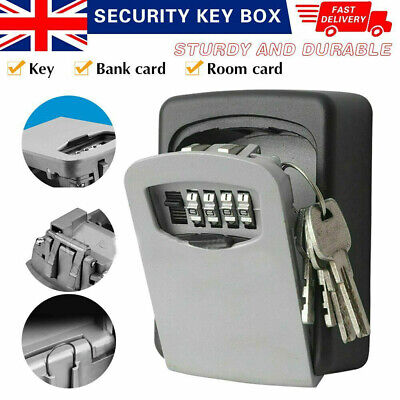 Wall Mounted Key Safe Box Secure Lock Safety 4 Digit Security Outdoor Storage Uk