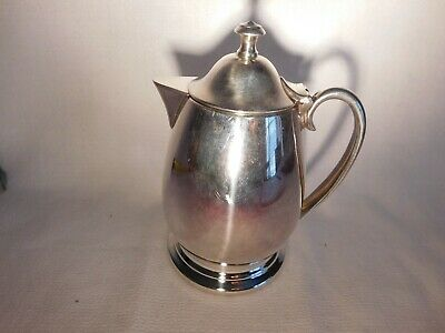 "silver plated syrup pitcher 5"" good condition wonderful for hot syrup"