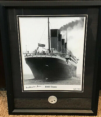 RMS Titanic 521/1912 Limited Edition Photo Signed By Eilza Gladys Millvina Dean