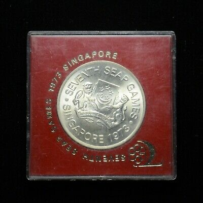 1973 Singapore $5.00 7th Seap Games .500 Silver .4019 ASW (otx170)