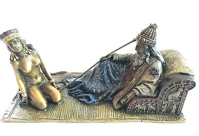 Franz Bergman Antique Bronze King David and Bathsheba Cold Painted Signed Stunni