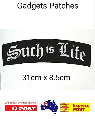 "/""SUCH IS LIFE/"" 250mm BIKER ROCKER PATCH"