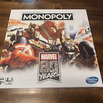 Monopoly Marvel Avengers 80 Years Edition Hasbro Board Game