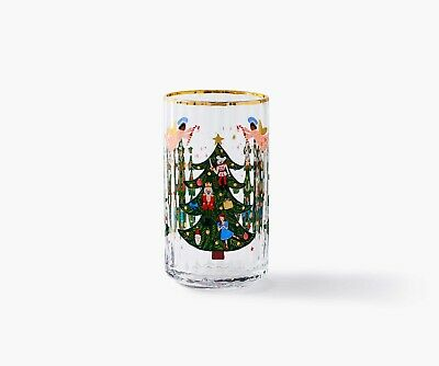 Anthropologie Rifle Paper Co Nutcracker Juice Glass Christmas Tree NEW 2019