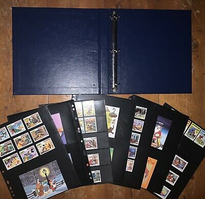 Disney Worldwide 95+ MNH Topical Stamp Collection in Binder - Christmas + Others