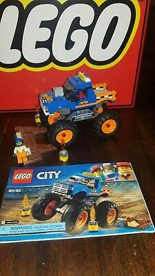LEGO City Monster Truck (60180) - Complete W/ Minifigures Manuals