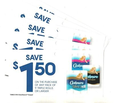 14x Save $1.50 on Cashmere Bathroom Tissue Coupons EXP 2020