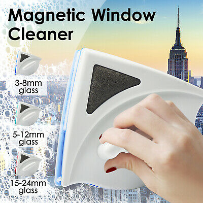 Magnetic Window Double Side Glass Wiper Cleaner Surface Cleaning Brush Car Tool-
