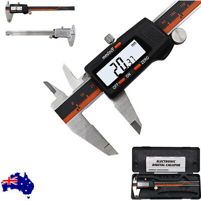 """Electronic Digital Vernier Caliper Stainless LCD Gauge with Case 150mm Pro 6"""""""