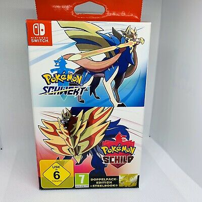 Pokémon Schwert+Pokémon Schild+Steelbook-Limited Edition Nintendo Switch Neu&OVP