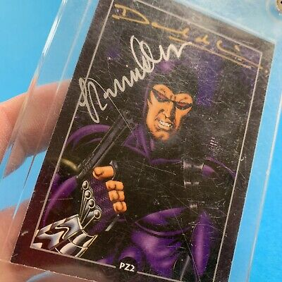 The Phantom PZ2 Card Signed by Glenn Lumsden Dave DeVries Marvel 1995 Dynamic