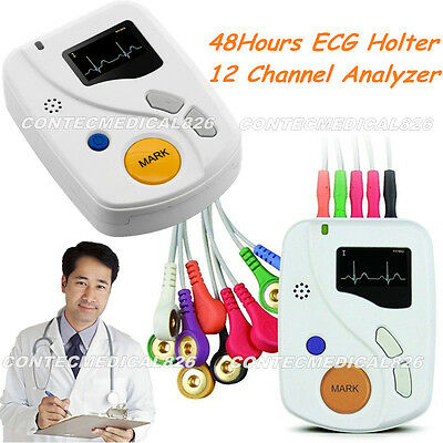 TLC6000 Dynamic ECG Holter 48 Hours Recorder/Analyzer 12 Channel EKG USB Softwar