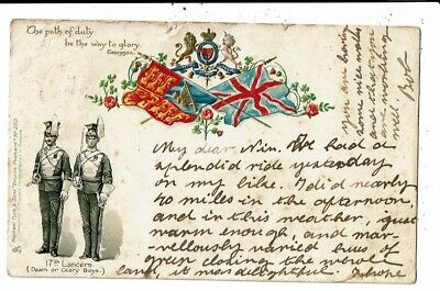 CPA-Carte Postale-Royaume Uni- 17th Lancers-The path of duty be the way to Glory