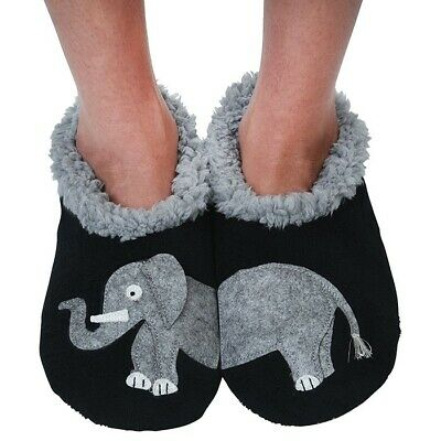 Ladies Slipper Snoozies! Elephant  Design Ideal  Gift