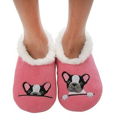 Ladies Slipper Snoozies! Frenchie ( French Bull Dog ) Design Ideal  Gift