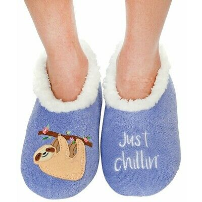 Ladies Slipper Snoozies! Sloth Just Chillin Design Ideal  Gift