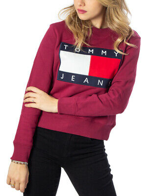 TOMMY HILFIGER DONNA Felpa colorblock in misto cotone