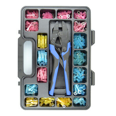 Heatshrink Terminal Kit, Ergonomic Ratchet Crimper, 378 Pieces. CMXHST