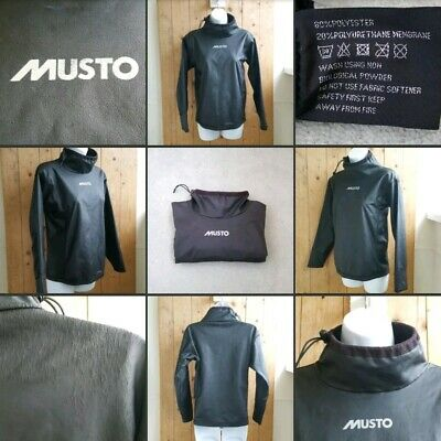 *Well Used* Black Fleece Lined Sailing Top▪MUSTO▪Ladies Small~Junior L~Wear Tear