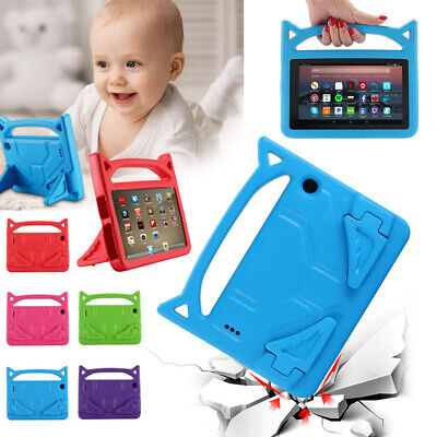 Kids Safe Handle Cover Stand Case EVA For Amazon Kindle Fire 7 / HD 8 HD10 Alexa