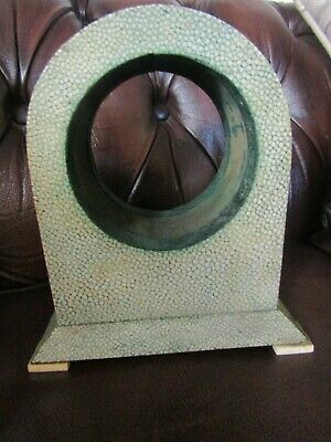 Rare Art Deco Original Shagreen Clock Case On Small Natural Feet Poss. Aspreys