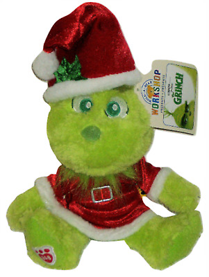 Build A Bear Young Baby Grinch Red Holiday Outfit Santa Hat Set Mini Plush Toy