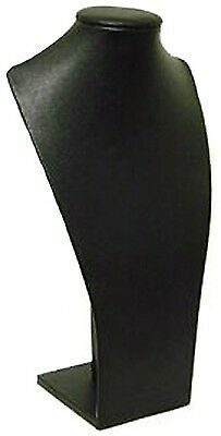 6 Black Leatherette Jewelry Display Busts