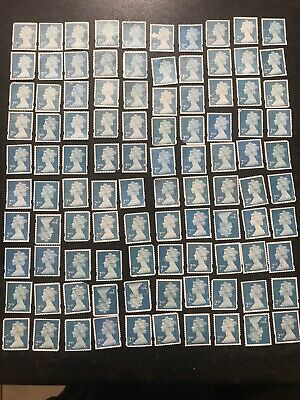 100 x  UNFRANKED   2nd class stamps Off paper.No Gum -  Face Value £61 FAULTY.