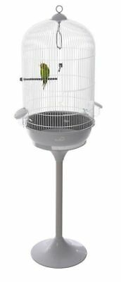 Riviera Mandelieu Ice Round Budgie Canary Medium Bird Cage With White Stand 5832