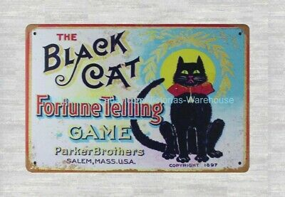 Black cat Rich /& Refined Fine Coffees metal tin sign metal wall