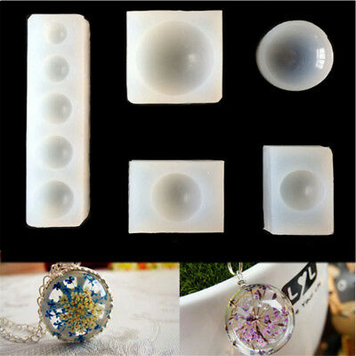 Silicone Mold jewelry flat round Oblate Cabochon pendant Resin Mould PLERK7FLA