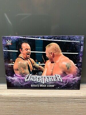 WWE Topps Then Now Forever 2017 Undertaker Tribute Card 39 Of 40