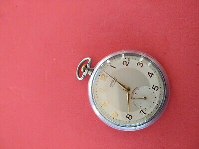 Rare Two Tone Dial Astrolux Pocket Watch Working _104