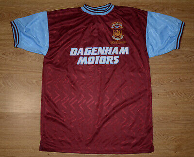 West Ham United 1994 Bobby Moore Memorial Football Shirt #6 Score Draw Size L