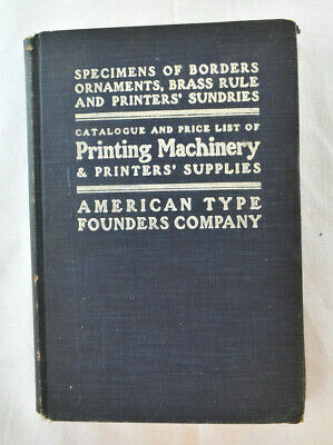 American Type Founders Co. Specimen Book Catalogue Printing Machinery Supplies